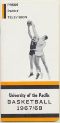 University of the Pacific 1967 - 1968 Basketball  Media Guide-ex    Bx CBMG
