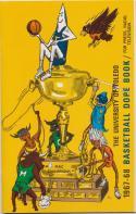 University of Toledo 1967 - 1968 Basketball Media Guide