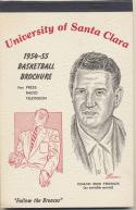 Universtity of Santa Clara 1954 - 1955 Basketball Media Guide