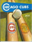 1975 Chicago Cubs Spring Training Program Padres