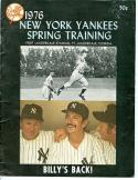 1976 Yankees Mickey Mantle Spring Training Program