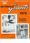 1979 Giants Dodgers Spring Training Program nm