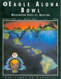 1988 Eagle Aloha Bowl football Program Washington State vs. Houston