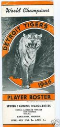 1946 Detoit Tigers spring training Roster