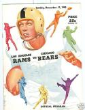 1950 NFL Playoff Rams Bears Program