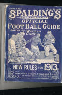 1913 Spalding Football Guide Jim Thorpe Carlslie all american photo's