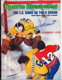 1975 2/10  signed sports illustrated Rogie Vachon Kings em