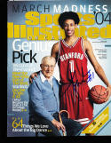 2004 Signed Josh Childress Stanford sports Illustrated on campus