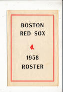 1958  Boston Red Sox Roster spring training