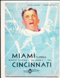 11/8 1947 Miami Florida, Cincinnati Football Program