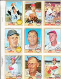 John Briggs 284  Philadelphia Phillies  Signed 1968 Topps Card