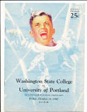 10/31 1947 washignton state vs portland Football Program