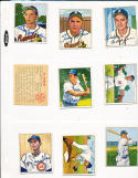 Gene Hermanski Brooklyn dodgers 113  signed 1950 Bowman card