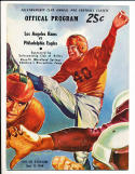 9/15 1948 LA Rams vs Philadelphia EaglesFootball Program PLAYED IN DALLAS