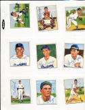 Del Crandall 56  braves  signed 1950 Bowman Signed card