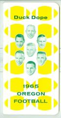 1965 Oregon Ducks  Football Press Media Guide em/nm CFBmg18