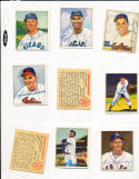 Gene Bearden Cleveland Indians 93  signed 1950 Bowman d04 card