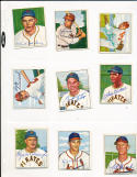 Del Rice St. Louis Cardinals 125 signed 1950 Bowman d.83 card