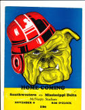 11/8 1939 Southwestern vs Mississippi delta  Football Program