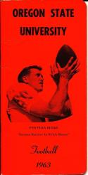 1963 Oregon State Football Press Guide em Vern Burke
