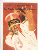 7/29 1961 Los Angeles Rams intrasquad game Redlands Football Program