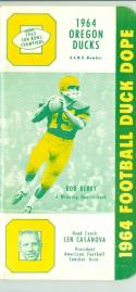 1964 Oregon Ducks  Football Press Media Guide em/nm CFBmg18