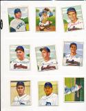 Pat Mullin Detroit Tigers 135 signed 1950 Bowman card