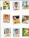 red Schoendiest Cardinals 71 signed 1950 Bowman card