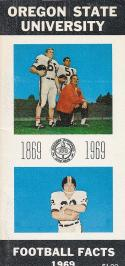 1969 Oregon State Football Press Guide em/nm CFBmg2