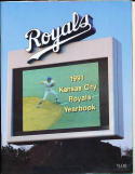1991 Kansas City Royals Yearbook in nm