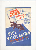 1938 Chicago Cubs vs pirates program score card em