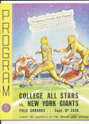 9/8th 1936 College All Stars vs New York Giants  football program em  bx8.13
