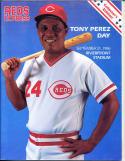tony perez day 1986 Reds Program