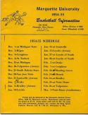 23 - 1954-55 Marquette University Basketball Guide