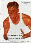 40 - Mar 11 1950 UCLA vs Washington State Basketball Program - PCC Playoff Score