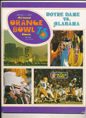 1975 Orange Bowl Notre Dame vs Alabama  Football Program