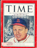 4/28 1952 Eddie Stanky St. Louis Cardinals Time Magazine mail label