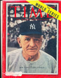 Casey Stengel new York Yankees 10/3 1955  Time Magazine em label
