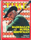 Charlie Finley Oalkland Athletics  8/18 1975   Time Magazine em label