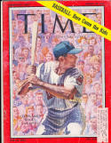 Rocky Colavito Cleveland Indians vg Time Magazine label