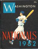 1952 Washington Nationals baseball yearbook em/nm