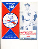 1959 Buffalo Bison Sketch Book Press Media Guide