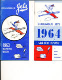 1963 Columbus jets Sketch Book Press Media Guide
