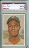 1957 Topps dave pope #249 psa 8