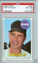 1969 topps #565 Hoyt Wilhelm angels psa 8