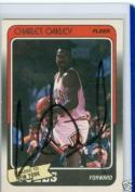 signed 1988 Charley Oakley knicks fleer card