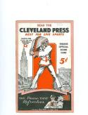 1935 Chicago White Sox vs Cleveland Indians unscored clean program