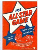 1954 All Star Game nm program Cleveland Indians