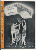 1957 1958 New York Knicks Press Media Guide