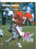 1986 Super Bowl XXI Denver Broncos john elway guide